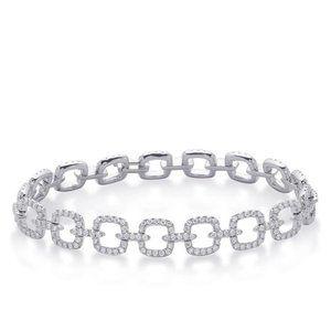 2.2 Ct Sparkling Diamond Ladies Bracelet 14k White
